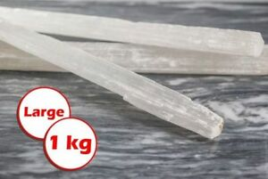 1kg Large Selenite Wand Natural Crystal Raw Stone Specimen Healing Cleansing Rod