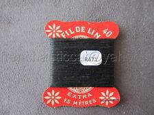 R471 Mercerie vintage ancienne carte FIL DE LIN N°40 vert forestier Thread Card