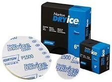 """Norton 6042 Dry Ice Q260 NorGrip Finishing Film Discs, P1200 6"""", 06042"""