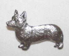 Welsh Corgi Pembroke Dog Fine Pewter Pin Jewelry Art Usa Made