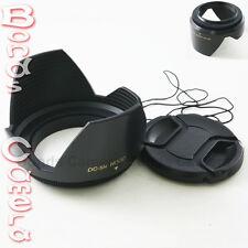 82mm 82 mm Plastic Standard Crown Petal Flower Lens Hood + Center Snap on cap