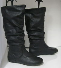 new Blacks flat slouch comfortable faux leather  sexy knee boot  Size.  5
