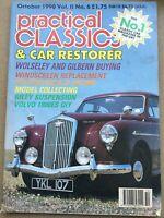 Practical Classics Magazine - October 1990 - Wolseley, Gilbert, Riley, Volvo 180