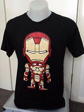 Marvel Mens Boys T shirt BLACK IRON MAN #1  SIZE L - comic hero avengers