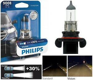 Philips VIsion 30% 9008 H13 60/55W One Bulb Head Light Replace High Low Beam OE
