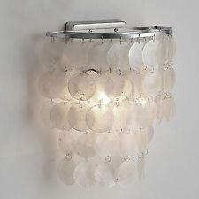 New Modern White Shell Sconce Lamp Metal Wall Fixtures Seashell Decor Light E27
