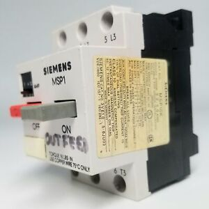 Siemens MSP10K Motor Starter with Overload Protection