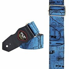 Black Friday Clearance Deal blue acoustic electric bass guitar strap gift xmas