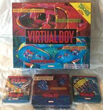 Nintendo Virtual Boy System Brand NEW Console Complete in Box Games AC adapter