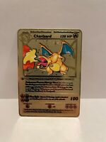 Glurak Metal Gold card English ☆☆☆ ☆☆☆ Pokemon Charizard V