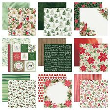 """Kaisercraft Peace & Joy 12x12"""" - Double Sided Christmas Scrapbooking Papers Red"""