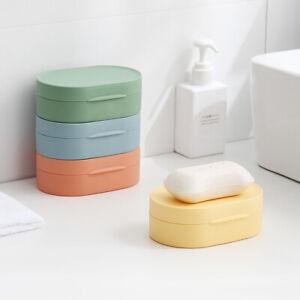 1x Potable Travell Bathroom Silicone Soap Dish Holder Non Slip Soap Box Tool