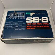 Sansui SB-6 2-Way Flush Mount Speaker Set of 2 Vintage - Brand New