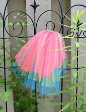 Bright NEON Veil - Wedding or Bachelorette - Retro 80s Party, three layers