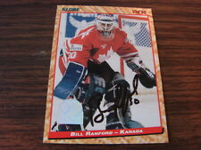 1995 Semic Sports Cards # 75 Bill Ranford Autographed / Signed Card Kanada