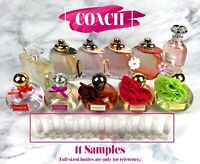 Lot of 11 Samples - Coach Perfume - Womens Fragrance (2ml Spray of Each)