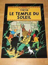 TINTIN POSTER LARGE - LE TEMPLE DE SOLEIL / PRISONERS OF SUN - 70 x 50 cm MINT