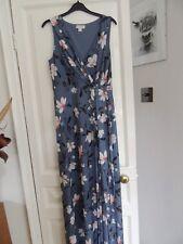 Ladies Monsoon Long Blue Dress Size 12