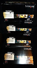 LEXMARK 12A7405 Hi Yield BLACK TONERS x4 E321 E323 - see text & Pix -  GENUINE