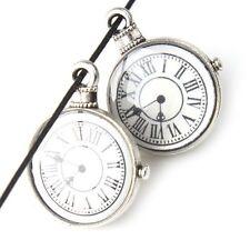 20pcs Wholesale Vintage Silvery Pocket Watch Alloy Pendants Jewelry Findings J