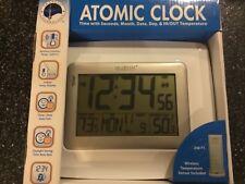 La Crosse Technology Atomic Digital Clock Weather Station Indoor/Outdoor- White