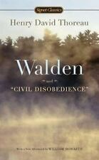 Walden and Civil Disobedience Thoreau, Henry David Mass Market Paperback