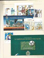 san marino annata completa francobolli 1998 con bf e libretto facciale 58100 lir