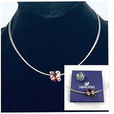 Swarovski Silver Choker 3 Strand Slide Bead Necklace 2 Bead  Lot