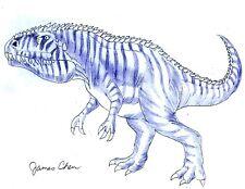 Giganotosaurus Dinosaur Original Comic Art By Comic Book Artist James Chen