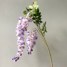 Artificial Lilac Wisteria, Realistic Faux Silk Purple Spring or Wedding Flowers