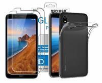 Xiaomi Redmi 7A - Pack 2 films en verre trempé protection écran + coque