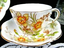 TAYLOR KENT tea cup and saucer painted floral pattern teacup DAFFODIL  England