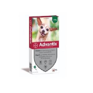 Advantix¹ chien puces-tiques/Flea & Tick Treatment 1-4 kg boite 4 pipettes