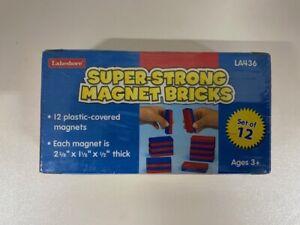 Lakeshore Super Strong Magnet Bricks Set of 12 LA436 - Brand New