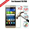 2Pcs 9H+ Premium Tempered Glass Screen Protector Cover Film  For Huawei Y6 PRO