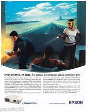 PUBLICITE ADVERTISING 095  2003  EPSON   home cinema  DREAMIO EMP TV 10