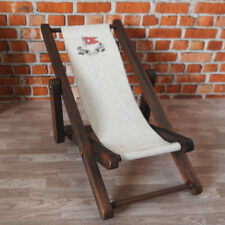 Dolls House Miniature 1/12th Scale Titanic Deck Chair