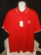 "NWT GLENMUIR ""RYDER CUP 2010"" 100% PERFORMANCE COTTON RED S/S POLO SHIRT SZ. XL"
