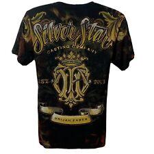 Silver Star Casting Company Men's Graphic  T Shirt 100% Cotton Black Medium