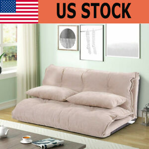 Adjustable Foldable Floor Sofa Bed Sleeper Couch Leisure Lazy Lounge Bed Couch