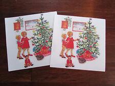 "Pair of Vinyl Plastic Mid-Century IKEA 002.586.36 Christmas Design 14.5"" x 14.5"""