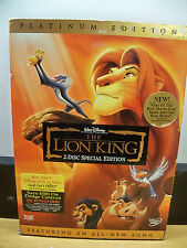 NEW SEALED GENUINE DISNEY PRE VAULT THE LION KING PLATINUM 2 DISC DVD SET