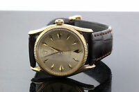 Rolex Oyster Perpetual 14kt Yellow Gold Bombay Rare Vintage Watch 47.2g  #9046