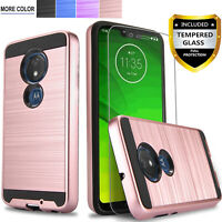 For Motorola Moto G7/G7 Plus/G7 Play/Optimo/ Phone Case+Tempered Glass Protector
