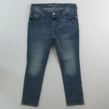 Old Navy Womens Jeans Size 12 Short Mid Rise Alamo Straight Stretch 33W x 28L