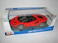Lamborghini Centenario Maisto 1:18 Scale Red Diecast Model Car Preowned