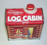100th Anniversary Log Cabin Syrup Tin 1987