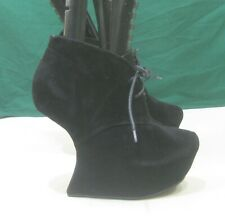 """us women  Size 5.5     Black 6""""High Wedge HeeL less 2""""platform Sexy Ankle Boot"""