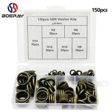 150pcs High Press NBR Ring Hydraulic Rubber Oil Pipe Seal Gasket