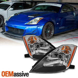 Fit 2003-2005 350Z Fairlady Replacement Headlights (HID Type) Headlamps L+R